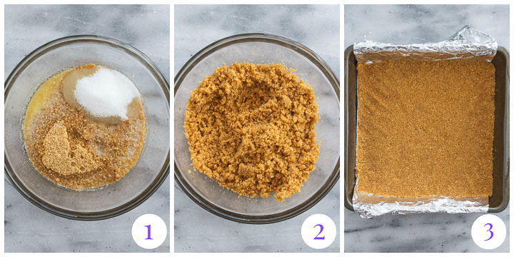 graham cracker crumb crust step by step