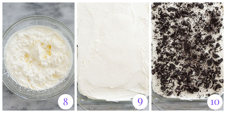 how to finished cake with whipped cream frosting