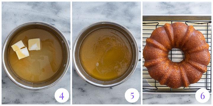 how to make glaze for amaretto bundt