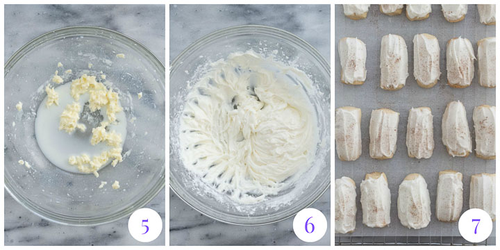 how to make frosting for nutmeg logs