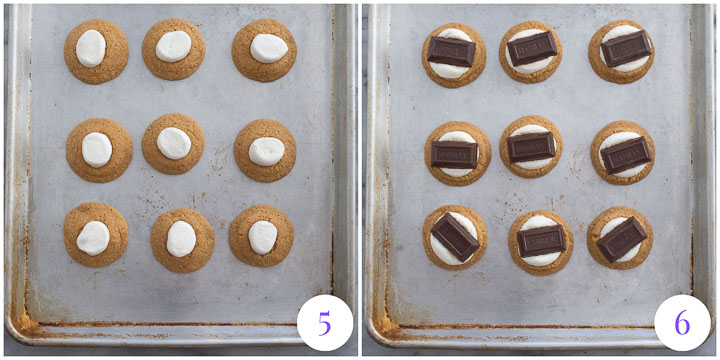how to finish cookies with marshmallows and chocolate bars