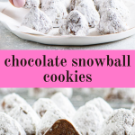 Pinterest image for snowballs with text overlay