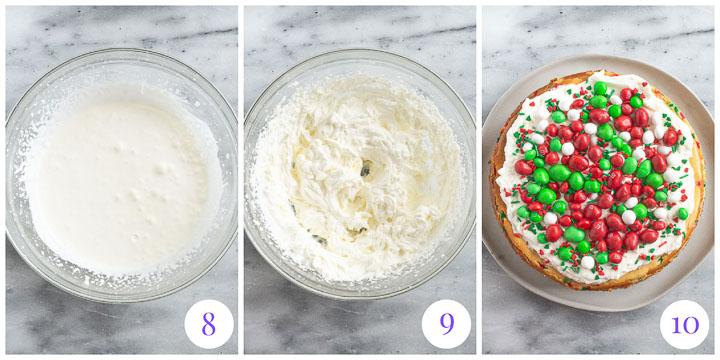 how to finish cheesecake