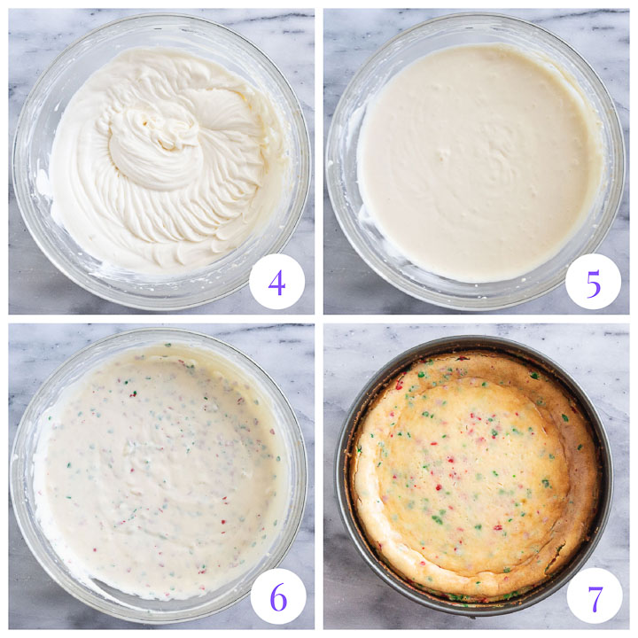 how to make filling for Christmas cheesecake