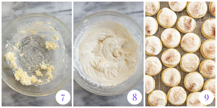 how to finish cookies with eggnog frosting