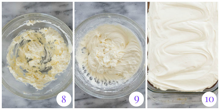 cream cheese frosting step by step