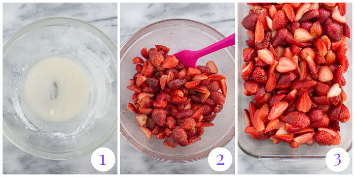 how to make filling for strawberry crumble