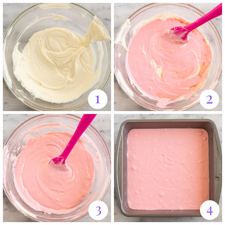 how to make strawberry fudge step by step