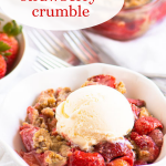 pinterest image for crumble with text overlay