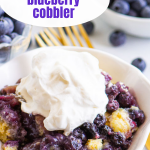 pinterest image for cobbler with text overlay