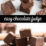pinterest image for fudge with text overlay