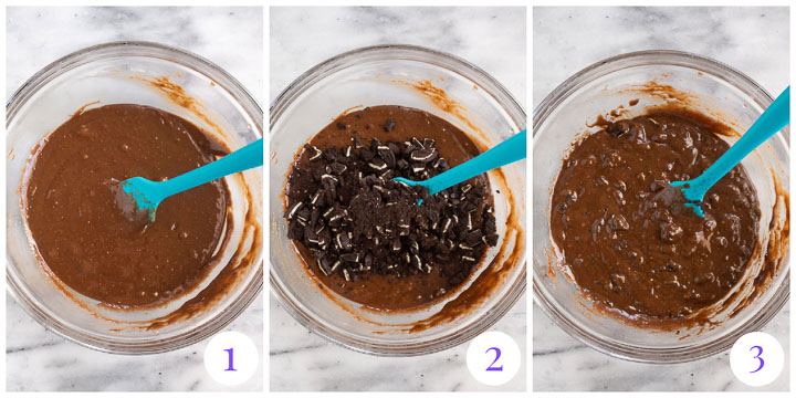 how to make the brownie layer step by step