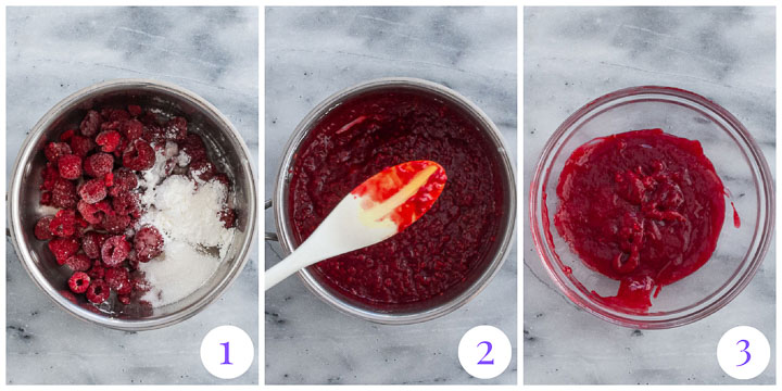 how to make raspberry swirl for cheesecake