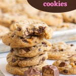 pinterest image of a stack of cookies with text overlay