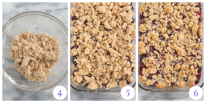 how to finish crumble step by step
