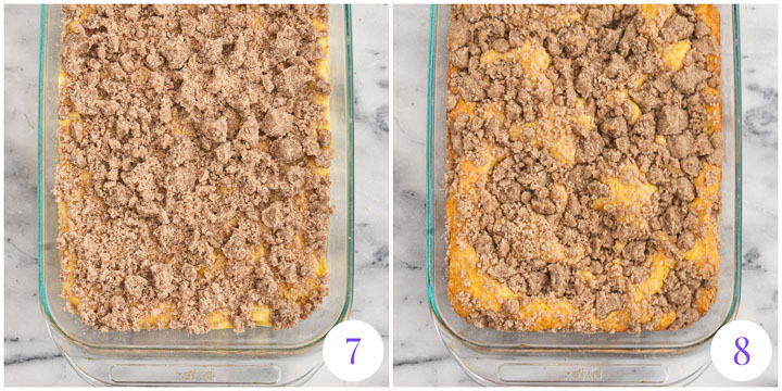 how to finish coffee cake