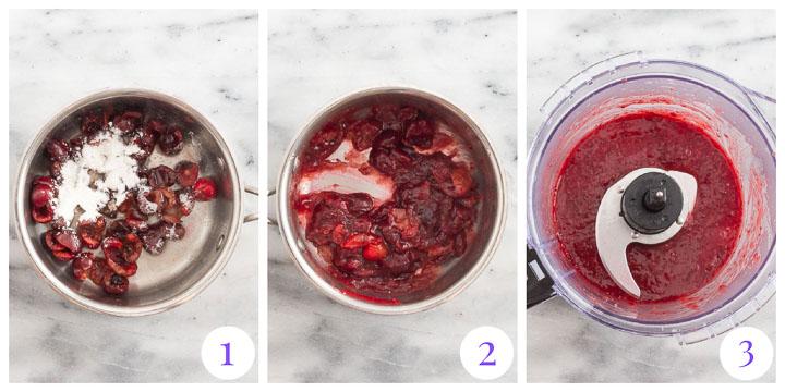 how to make cherry puree