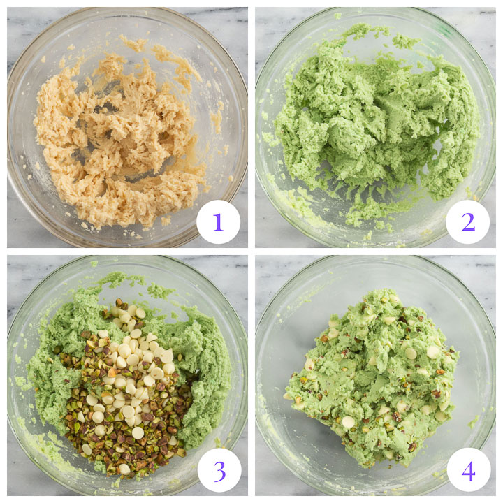 how to make pistachio cookies step by step