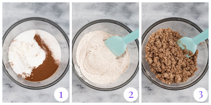 how to make streusel topping step by step