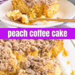 pinterest image for coffee cake with text overlay