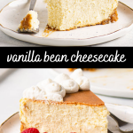 pinterest image for cheesecake with text overlay