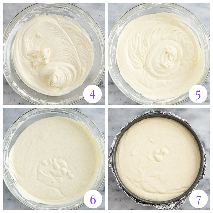 how to make vanilla bean cheesecake filing