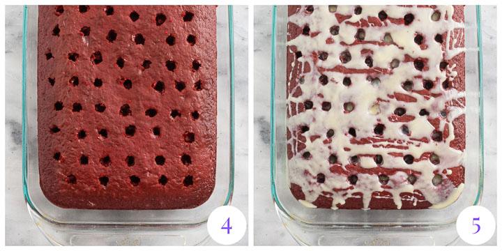 how to finish red velvet poke cake