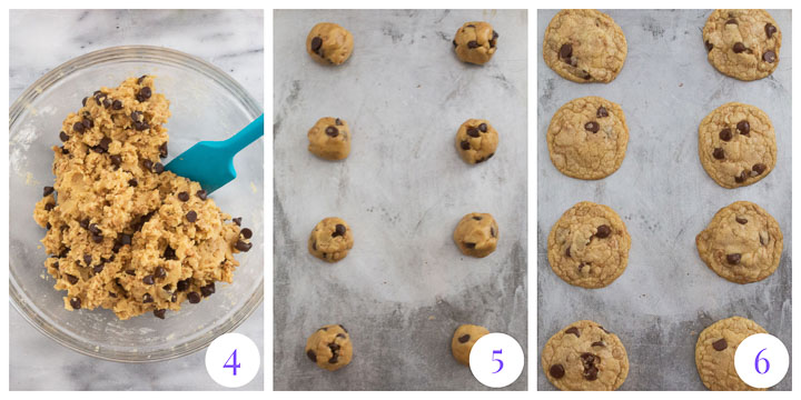 how to finish chocolate chip toffee cookies